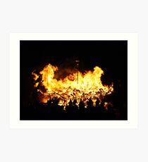 The flames engulf Art Print