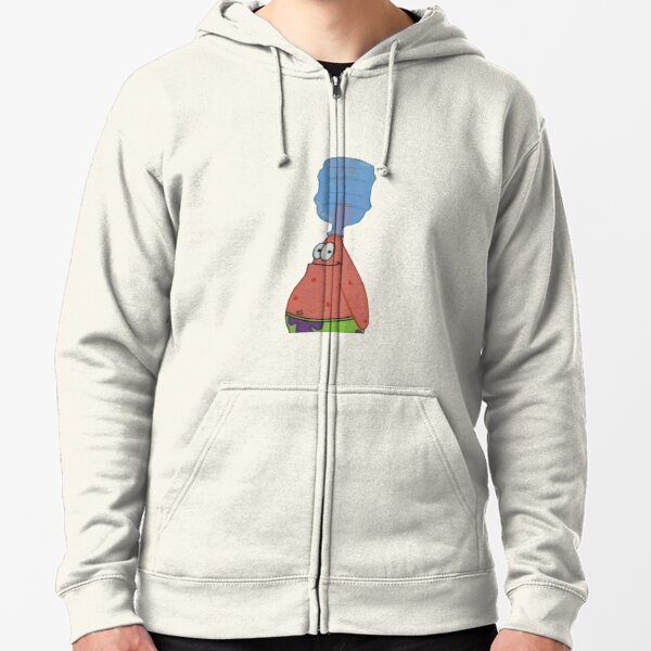 Patrick With Bottle On Head Zipped Hoodie