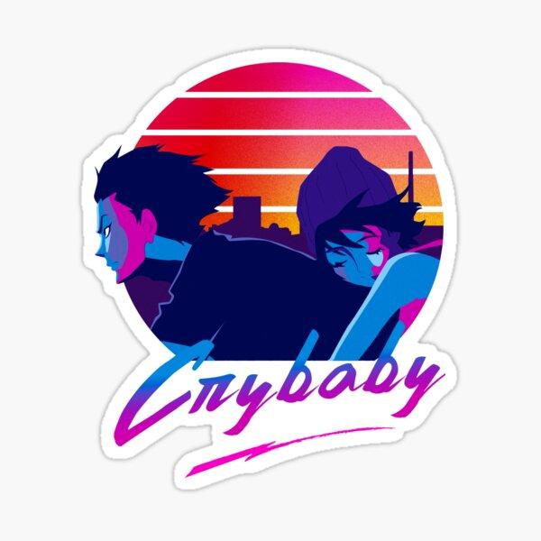 devilman crybaby 80s Sticker