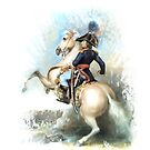 Charge It! Soldier on Palomino Horse by Janice O'Connor