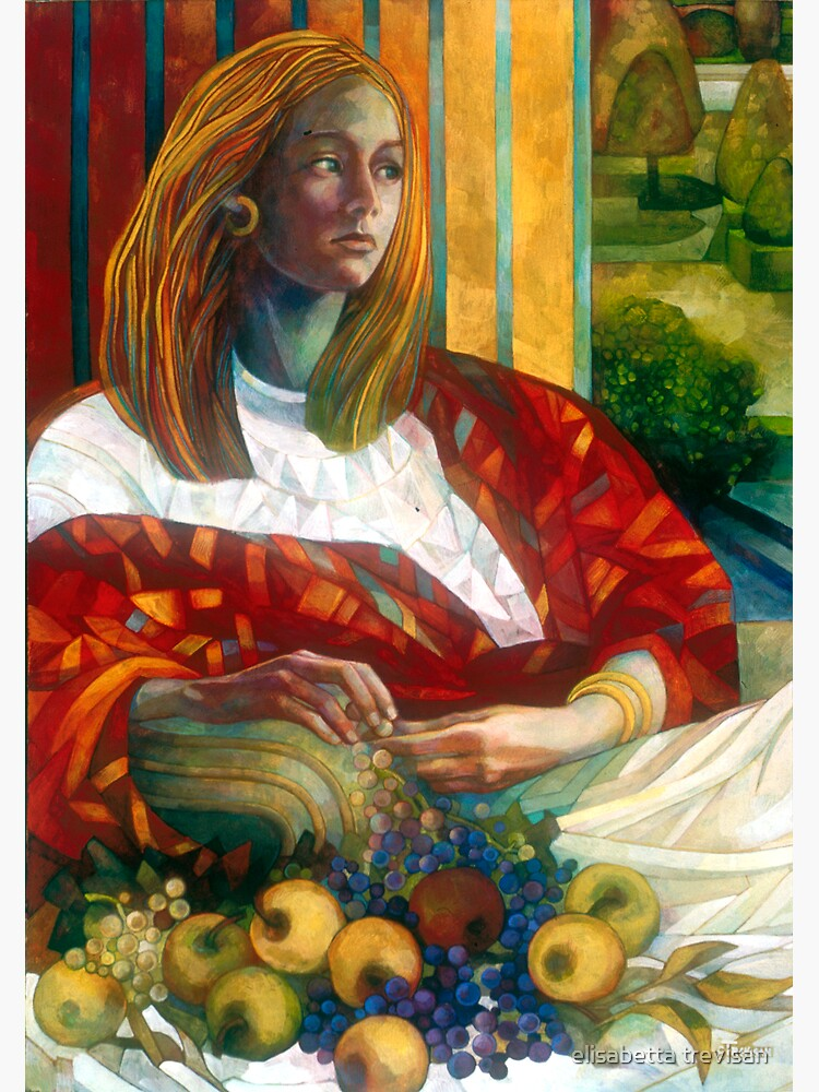 sitting lady with fruit by betta