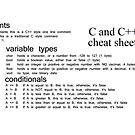 C and C++ Cheat Sheet, C, C++, Cheat, Sheet, comments, variable types, conditionals by znamenski