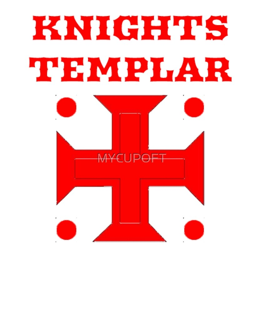 Knights Templar T Shirt Ancient Cross Medieval Symbol By Mycupoft
