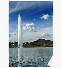 Captain Cook Memorial Water Jet Poster