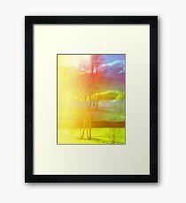 Psychedelic Swedish Landscape  Framed Print