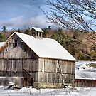 Berkshire Barn In Winter by Deborah  Benoit