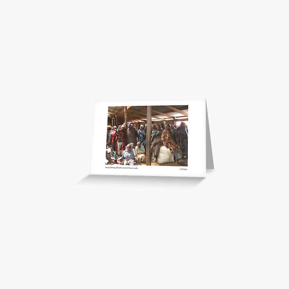 Spring Gathering of Basotho Livestock Owners, Lesotho Greeting Card