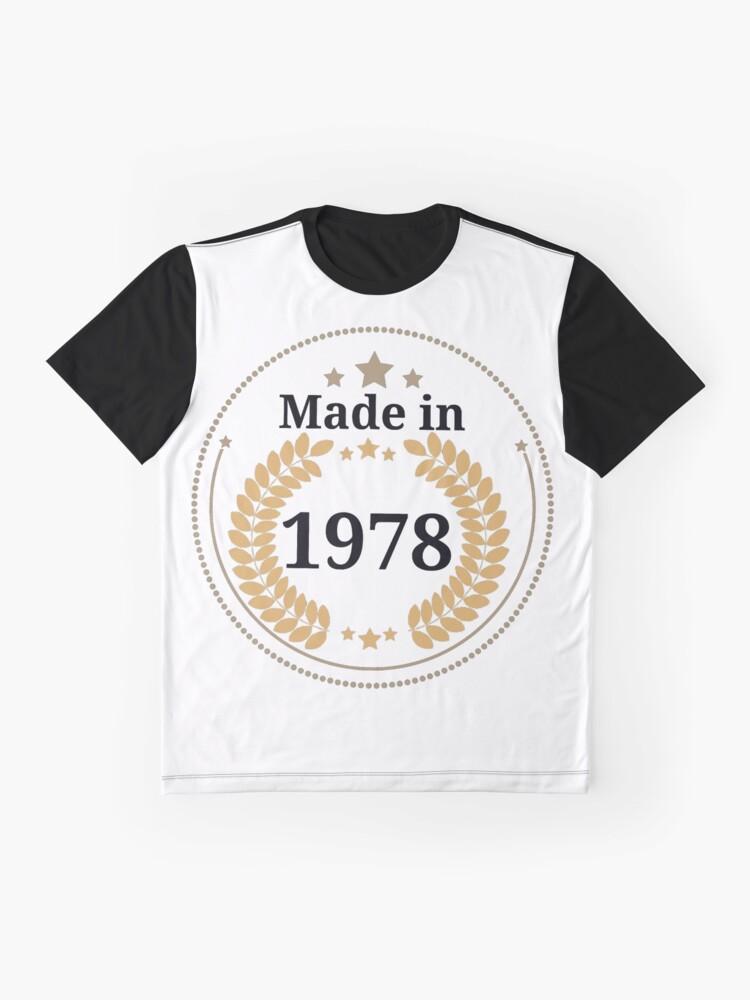 Alternative Ansicht von Hergestellt im Jahr 1978 Grafik T-Shirt