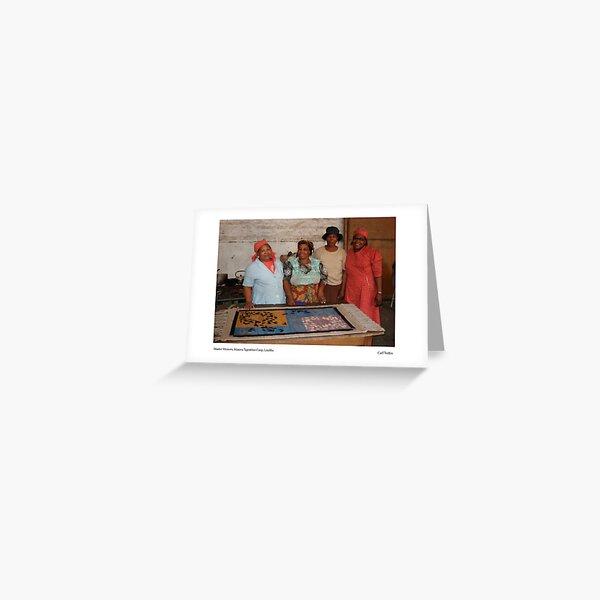 Master Weavers, Maseru Tapestries Co-op, Lesotho Greeting Card