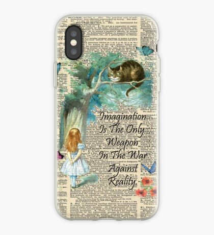 Cita de Alicia en el país de las maravillas - Imaginación - Página de diccionario Vinilo o funda para iPhone