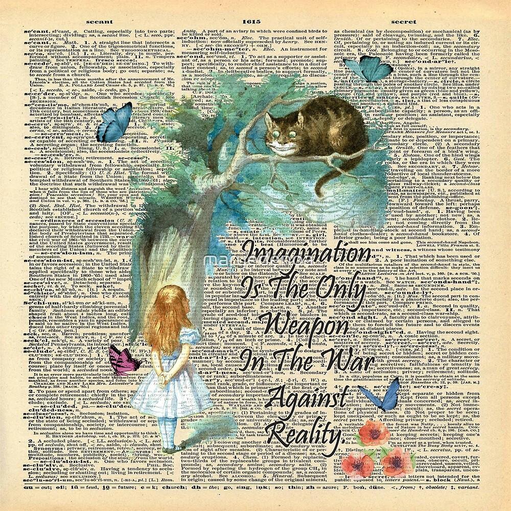 «Cita de Alicia en el país de las maravillas - Imaginación - Página de diccionario» de maryedenoa
