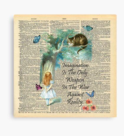 Cita de Alicia en el país de las maravillas - Imaginación - Página de diccionario Lienzo