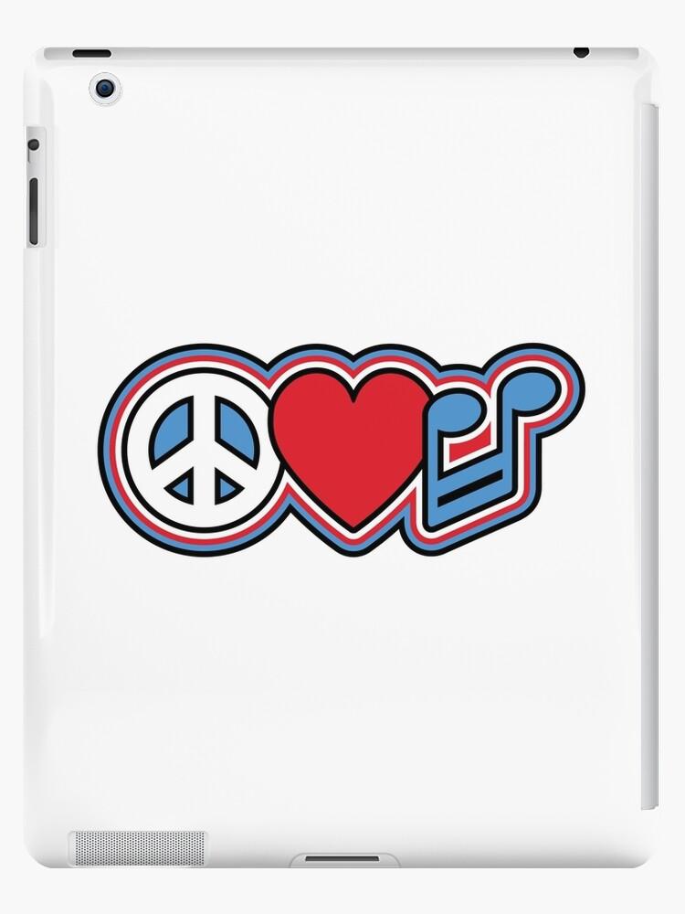 Peace Love Music Symbols Ipad Cases Skins By Lisann Redbubble