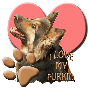 Love my Furkid German shepherd by IowaArtist