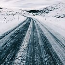 Driving Scandinavia - Curvy Road Through Winter Landscape by visualspectrum