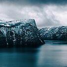Nordic Winter - Dramatic Coastal Landscape on Cold Moody Winter by visualspectrum