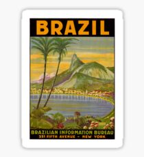 Brazil vintage travel poster Sticker