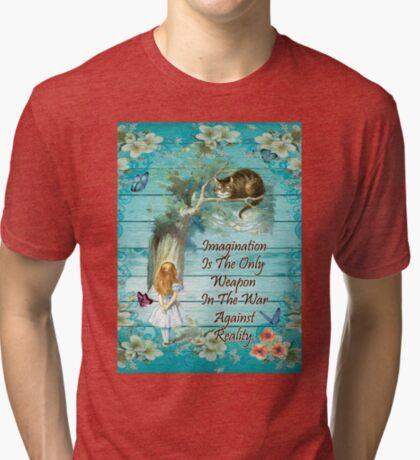 Cita de Alicia en el país de las maravillas - Imaginación Camiseta de tejido mixto