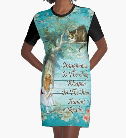 Cita de Alicia en el país de las maravillas - Imaginación Vestido camiseta
