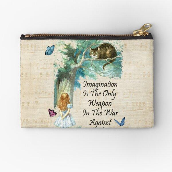 Alice In Wonderland Quote - Imagination Zipper Pouch