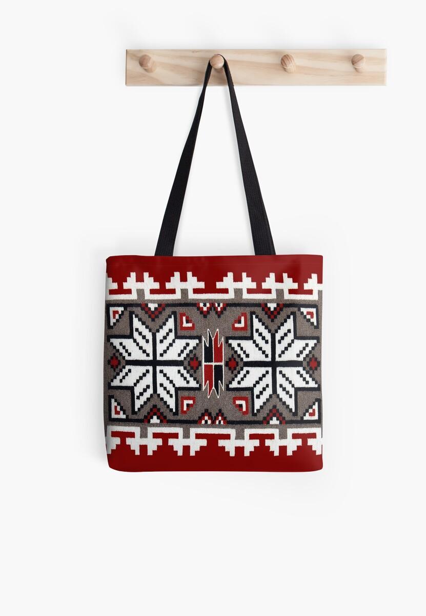 Bolsas de tela «Patrón de tejido de manta nativa americana» de ...
