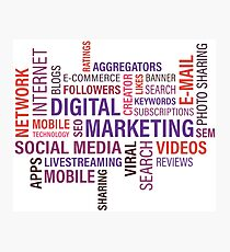 Online Marketing freak Photographic Print