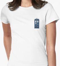 Watercolour TARDIS Women's Fitted T-Shirt