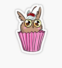 Cupkowl the Owl cupcake! Sticker