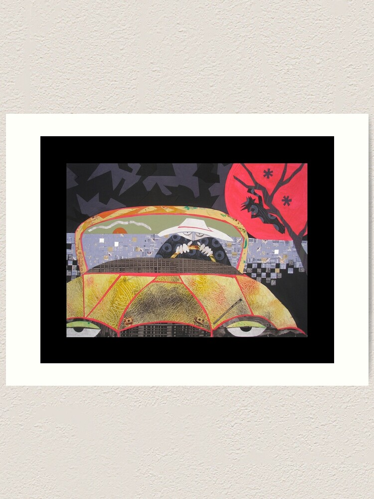 Alternate view of Jesus was the Jagged Shape in the Back of His Mind Art Print