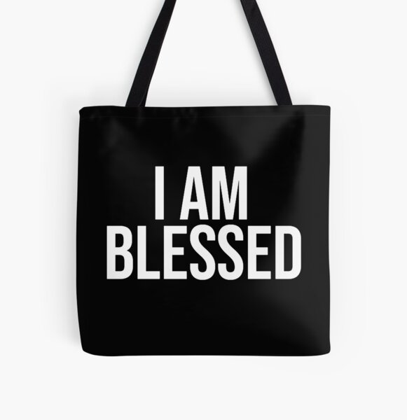 I AM BLESSED All Over Print Tote Bag