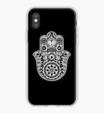 Black And White Hamsa iPhone Case