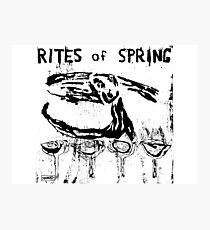 Rites of Spring Band Photographic Print