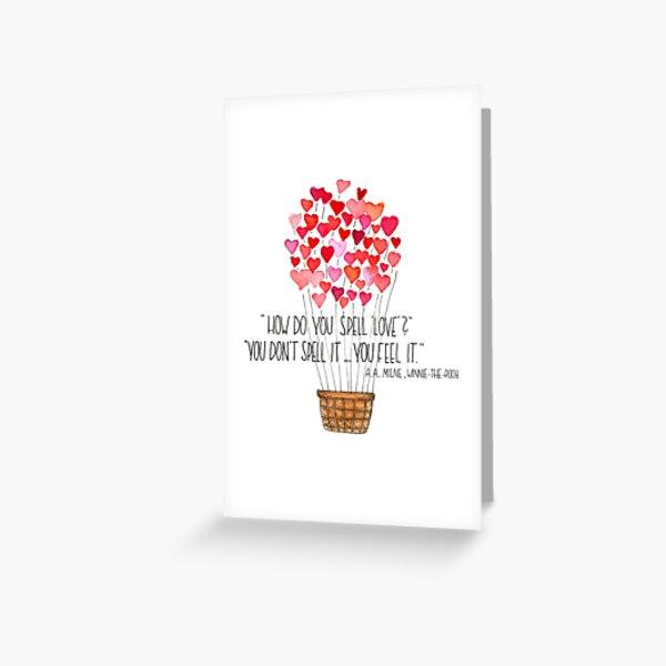 Love - Winnie the Pooh Greeting Card