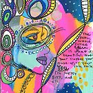 Abstract Portrait: You Are Beautiful - Messy Bits and All by amorninggrouch
