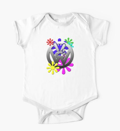 Peace hippie flowers  Kids Clothes