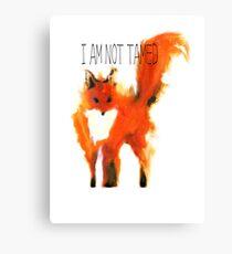 Lienzo Fox - No estoy domesticado - Pequeño príncipe