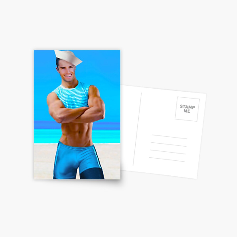 Sexy sailor in provocative outfit  Postcard
