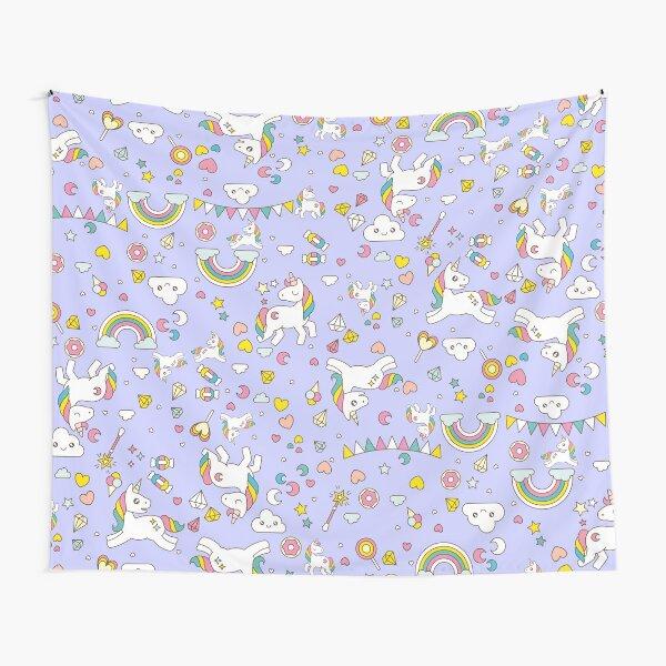 Unicorn Lilac Pattern  Tapestry