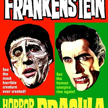 CURSE OF FRANKENSTEIN HORROR OF DRACULA by shnooks