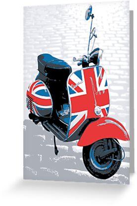 Vespa Scooter - Mod Decoration, Pop Art Print by Michael Tompsett