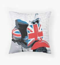 Vespa Scooter - Mod Decoration, Pop Art Print Throw Pillow