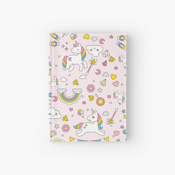 Unicorn Pattern Hardcover Journal
