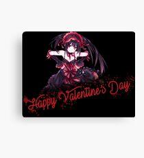 Happy Valentines Day | Tokisaki Kurumi Canvas Print