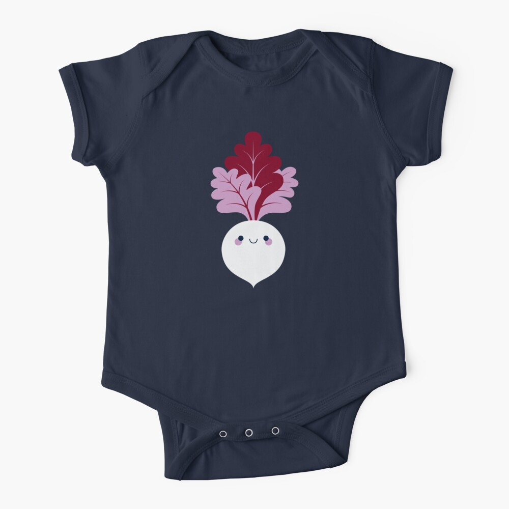Cute white beetroot Baby One-Piece