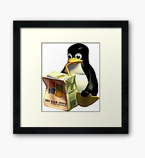 Linux VS Microsoft Framed Print