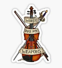 D&D - Bard - Words Are My Weapons Sticker
