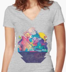 Red In Tooth And Claw Women's Fitted V-Neck T-Shirt