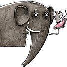 Maus & Elefant von JunieMond