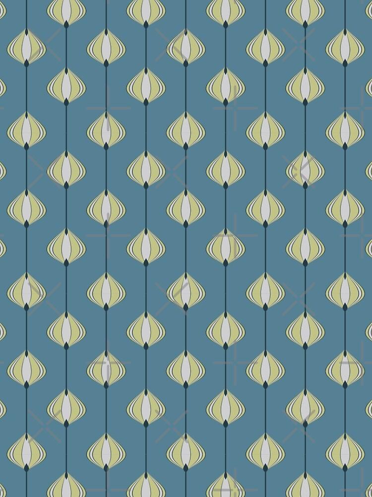 Blättermuster auf Blau von pASob-dESIGN