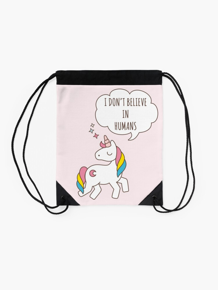 Alternate view of Unicorn Drawstring Bag